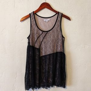 Mystree Lace Tank Top